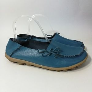 Socofy Leather Moccasins Size 42 9 Driving Mocs